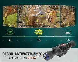 Atn X-sight II Hd Numérique Intelligent De Vision Nocturne 3-14x Rifle Scope # Dgwsxs314z