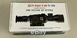 Atn X-vue II Hd Numérique Intelligent De Vision Nocturne 3-14x Rifle Scope Dgwsxs314z Nouveau
