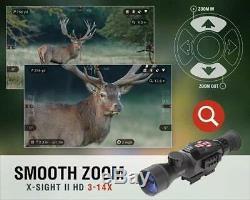 Atn X-vue II Intelligente Hd Jour / Nuit Numérique Vision 3-14x Portée Rifle