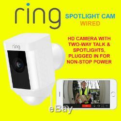 Bague Spotlight Cam Filaire Caméra Hd Avec Deux Voies Talk & Spotlights Cam Sécurité