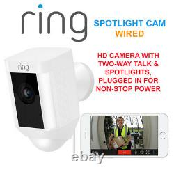 Bague Spotlight Cam Wired Hd Caméra Avec Deux-way Talk & Spotlights Sécurité Cam W