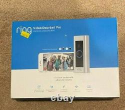 Bague Video Doorbell Pro 1080p Wi-fi Hard Wired Smart Hd Camera Avec Vision Nocturne