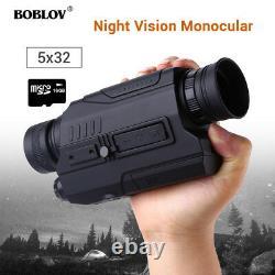 Boblov 16 Go 5x Digital 150yards Distance De Vision De Nuit En Monoculaire Foncé Complet