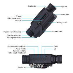 Boblov Digital Day & Night Vision Monoculaire 5x32 Optique Portée Monoculaires + 16 Go