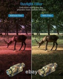 Boblov Digital Night Vision 16 Go Monoculaire 5x32 Portée 150verres Pleines Ténèbres +filtre