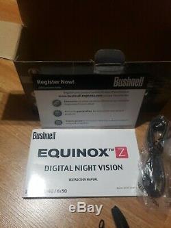 Bushnell Numérique De Vision Nocturne 6x50mm Equinox Z Rifle Mont Neuf Boite Ouverte