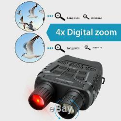 Caméra De Vision Nocturne Hd Jumelles De Chasse 4x Infrarouge Zoom Numérique Telescope Ir