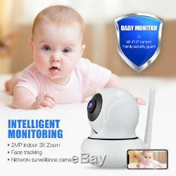 Caméra Hd 1080p Wifi Sécurité Caméra De Suivi Automatique Ir Vision Nocturne Zoom