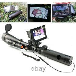 Caméra Numérique De Vision De La Nuit Pour L'appareil De Chasse Au Fusil Avec Écran LCD