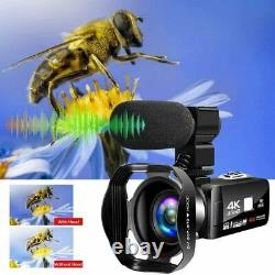 Caméra Vidéo 4k Ultra Hd Camcorder 48.0mp Ir Night Vision Digital Camera Wifi VL