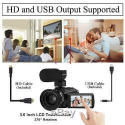 Caméra Vidéo 4k Ultra Hd Caméscope Aitechny Numérique Wifi 48mp 16x Zoom
