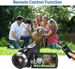 Caméra Vidéo Appareil Photo Numérique 4k Webcam Ir Vision Nocturne Uhd 56mp 16x Zoom Numérique