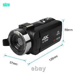 Caméra Vidéo Camcorder Ultra Hd 4k 48mp 16x Vlogging Numérique Microphone Remote