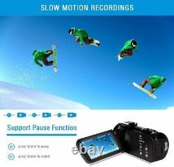 Caméra Vidéo Numérique 42mp 2.7k Camcorder Night Vision Fhd 1080p Vlogging Youtube