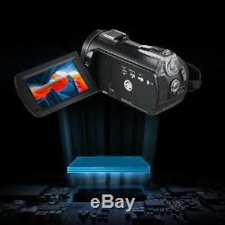 Caméra Vidéo Numérique Ordro 3 4k Full Hd 24mp DV 30x Zoom Wifi Ir À Vision Nocturne