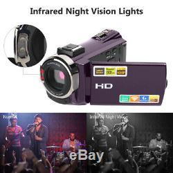 Caméra Vidéo Numérique Wifi Caméscope Hdmi Hd 1080p Avec Vision Nocturne Et Microphone