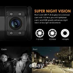 Caméra Voiture Double Dash Cam 1920x1080p Enregistreur Vidéo Numérique De Vision Nocturne Infrarouge