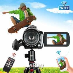 Caméscope Caméra Vidéo 4k 30x Zoom Numérique De Vision Nocturne Microphone 32go Carte Sd