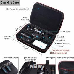 Caméscope Hd 4k Bundle Caméra Vidéo Numérique Microphone 1080p Salut Musique Qualité