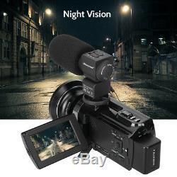 Caméscope Numérique 4k Hd 16x Zoom Wifi 48 Mp Caméra Vidéo Avec Vision Nocturne Et Infrarouge