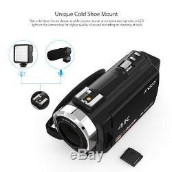 Caméscope Numérique Caméscope DV Wifi 4k Ultra Hd 1080p 48mp + Objectif MIC
