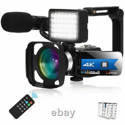 Caméscope Wifi Vidéo Caméra Numérique 4k Webcam Night Vision 56mp 16x Zoom Numérique