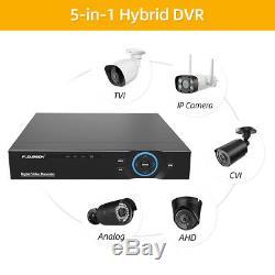Cctv 8ch Dvr Nvr Accueil Sécurité Extérieure Système De Caméra Ip Enregistreur Vidéo Numérique