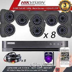 Cctv Hikvision 1080p 2.4mp Hd Vision Nocturne Extérieure Dvr Accueil Sécurité Kits Système