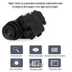 Chasse De Caméra Monoculaire Infrarouge De Vision Nocturne Infrarouge Numérique Mini 2x Portable