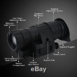 Chasse Numérique Infrarouge Hd Ir De Vision Nocturne Monoculaire Casque Telescope Portable