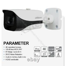Dahua 4k Starlight MIC Hdcvi Ir40 Wdr Hdcvi Caméra Bullet Hac-hfw2802e-a Ip67