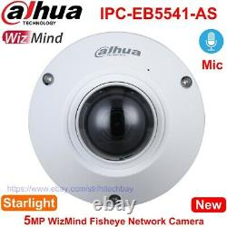 Dahua Ai Fisheye Ipc-eb5541-as 5mp Caméra Panoramique MIC Poe, Remplacer Ipc-eb5531