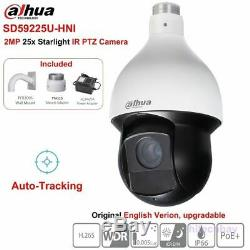 Dahua Dh-sd59225u-hni 2mp Starlight 25x Ptz Caméra Ir Auto-suivi De Réseau Poe +