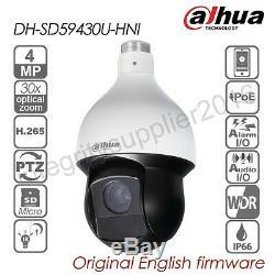 Dahua Dh-sd59430u-hni 4mp 30x Ptz Caméra Dôme Ip Suivi Vitesse H265 Poe Ir Ip66