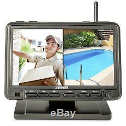 Defender Digital Wireless 7 Moniteur De Sécurité Dvr Et 2 Caméras De Vision Nocturne