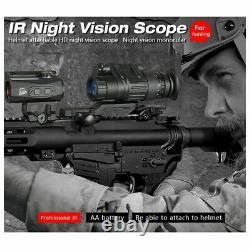 Digital Infrared Tactical Night Vision Champ D'action Monté À La Tête Monoculaire Pour La Chasse