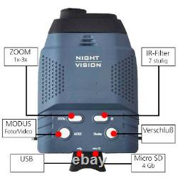 Digital Nachtsichtgerät Nightvision 3x14 Infrarot Strahler Beleuchtung Jagd Ns1