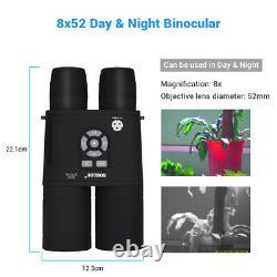 Digital Night Vision Binoculaire 8x52 355ppi Avec Caméra Infrarouge Ir Fonction Apm