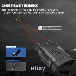 Digital Night Vision Binocular Telescope Record Videos Chasse, Observation Nocturne