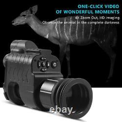 Digital Night Vision Rifle Portée Infrarouge 850nm Led Ir Torche Chasse Monoculaire