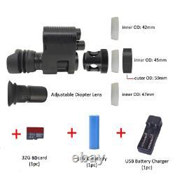 Digital Night Vision Rifle Scope Hunting Sight Infrarouge Ir Hd Camera Dvr Compact