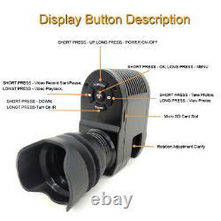 Digital Night Vision Sight Scope Monocular Ir Camera Hd720p Photo Video Hunting