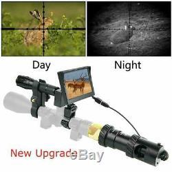 Diy Numérique De Vision Nocturne Pour Fusil De Chasse Avec L'appareil Photo 5 Écran Portable