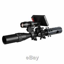 Diy Vision Nocturne Appareil Photo Numérique Pour Portée Rifle Avec Ir Torche Et Moniteur