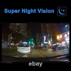 Dual Lens Car Dvr 4k 2160p G-sensor Wifi Gps Logger 2 Caméra Dash Cam Vidéo
