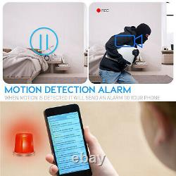 Enregistreur Vidéo 4k Ultra Hd Wireless Wi-fi Night Vision Video Camera En Horloge Numérique