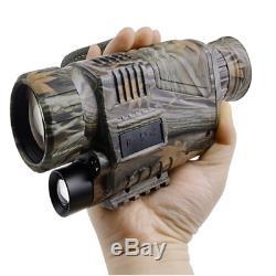 Enregistreur Vidéo Caméra De Chasse Zoom Numérique 5x40 Infrarouge Monoculaire 200m