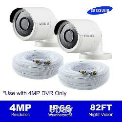 Ensemble De 2, Wisenet Sdc-89440bf 4mp Hd Camera (4mp Unit Only) Sdh-c85100bfn, Câble