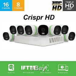 Ezviz Crispr 3mp 16 Canaux 8 Caméra Dvr 3to Tvi Smart Home System Security Cam