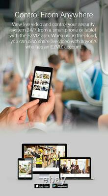 Ezviz De Hd 2mp 8ch Dvr Hdd 2to Mouvement Smart Home Système De Sécurité Cs-vr108d